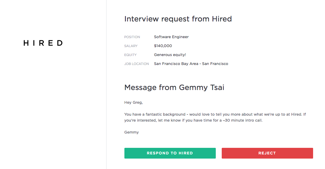 how to request an interview