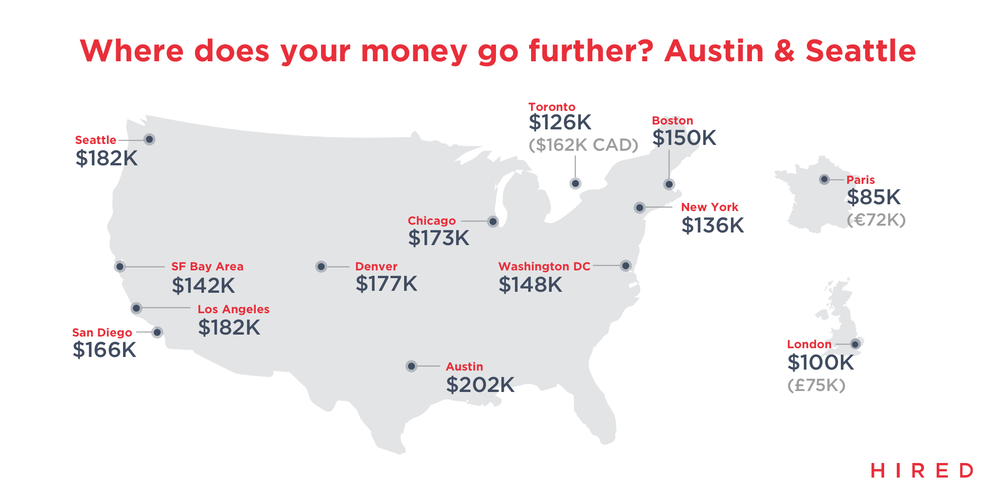 Here's a List of Average Tech Salaries Across the Country