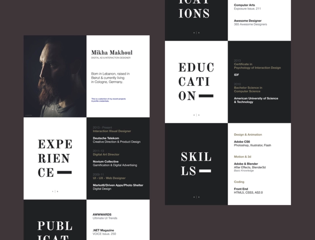 15 alternative design ideas for your resume  with examples