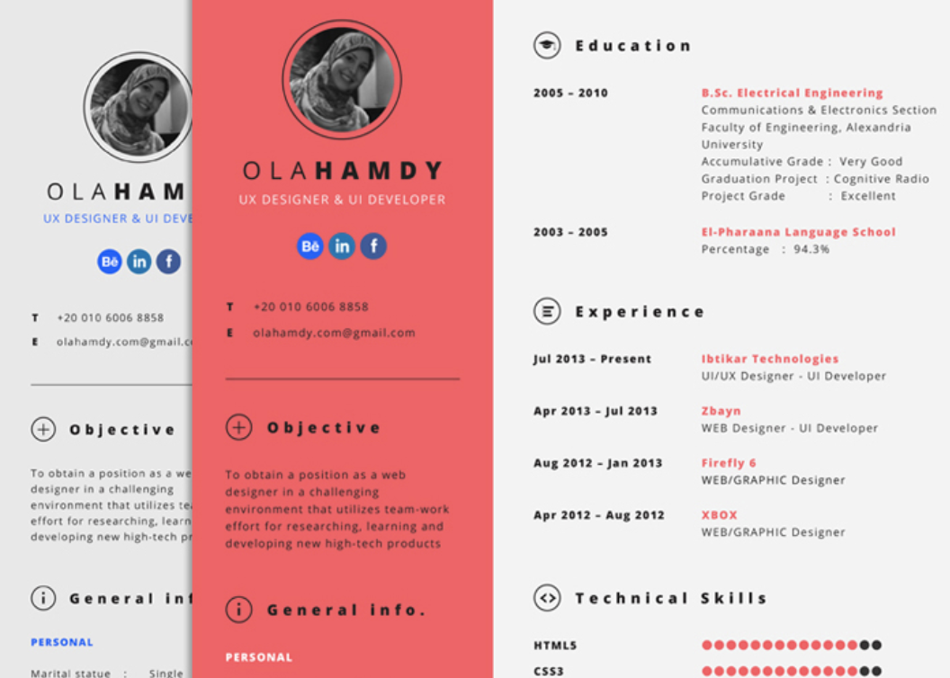 15 Alternative Design Ideas For Your Resume With Examples Tech